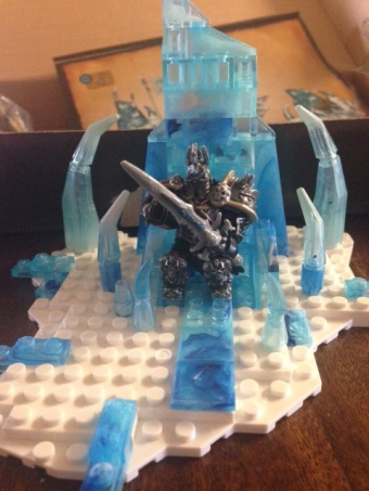 Arthas won't stand up!!!  My fingers are too fat to get him standing